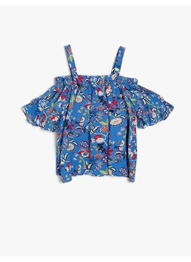 Koton Kids Desenli Bluz Lacivert